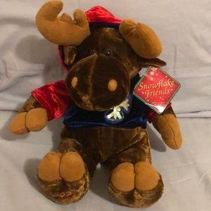 2003 Holiday Moose Plushie from Snowflake Friends